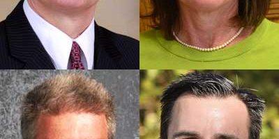 Top: James Briscoe and Kathy Countryman. Bottom: Brian L. Harris and Ehren Jarrett