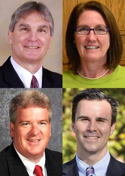 Top: James Briscoe and Kathy Countryman Bottom: Brian L. Harris and Ehren Jarrett