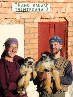 Samonds and Irwin helped found Sadabe, an NGO developing innovative ways to promote the healthy coexistence of humans and wildlife in Madagascar.