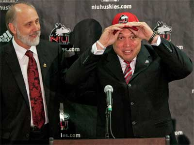 NIU President Doug Baker and Athletics Director Sean T. Frazier