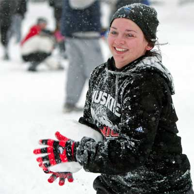 Campus snowball fun – Winter 2013
