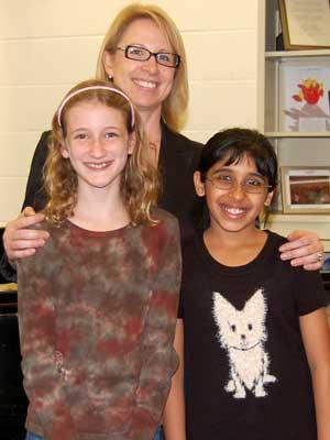 Mary Lynn Doherty joins Addison Kaser (left) and Vani Subramony.