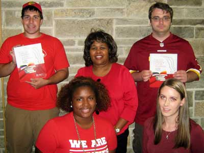 Front (left to right): Patricia Fernandez, Jeanette Gaudio. Back: David Gordon, Janice Hamlet, Daniel Albers.