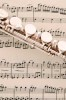 Photo of a flute laying on sheet music