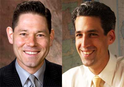 David Gunkel and Illinois Sen. Daniel Biss