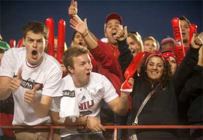 NIU Huskie Football fans