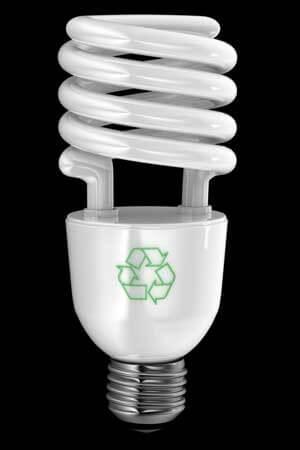 Photo of an energy-efficient light bulb