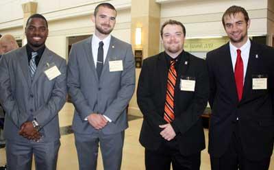 From left: Jerrel Ross, Christopher Lloyd, Joe Palmer and Jeffrey Kamholz