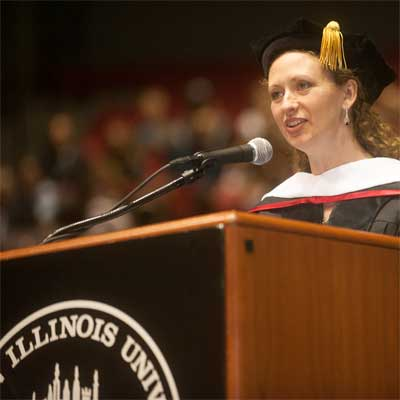 Layli Miller-Muro, founder and executive director of the Tahirih Justice Center, received an honorary doctoral degree from NIU this May.