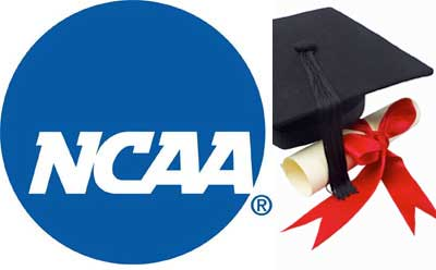 NCAA logo with graduation cap and diploma