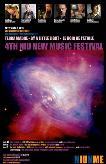 NIU New Music Festival poster 2013
