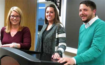 From left: Melissa Creamer, Rebecca Stevens and TJ Schoonover