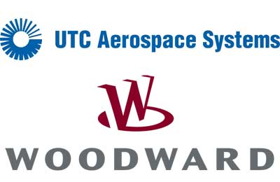Logos of UTC Aerospace Systems and Woodward