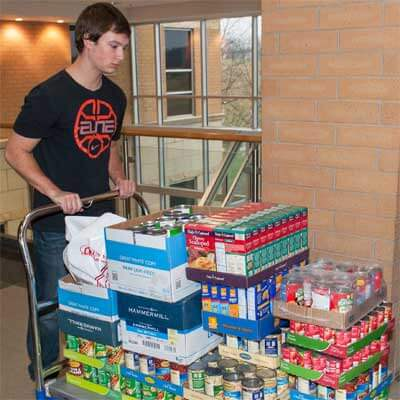 Colllege of Business food drive