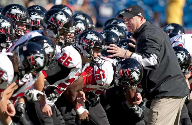 Coach Rod Carey and the Huskies