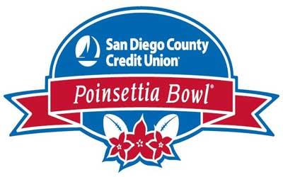 Logo of the San Diego County Credit Union Poinsettia Bowl