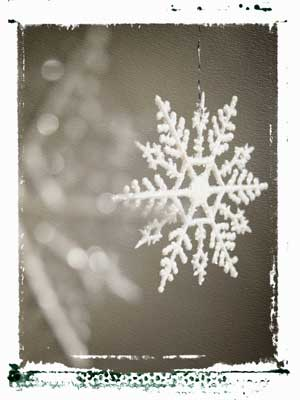 Image of a snowflake decoration