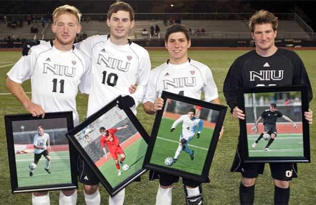 Seniors Sean Totsch, James Stevenson, Gael Rivera and Miles Herbert