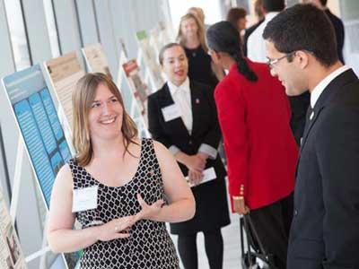 NIU undergraduate student Larissa Root presents research in Washington, D.C.