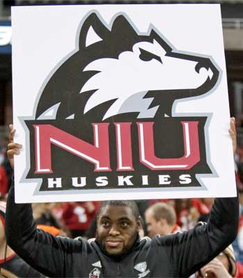 NIU Huskies football fan