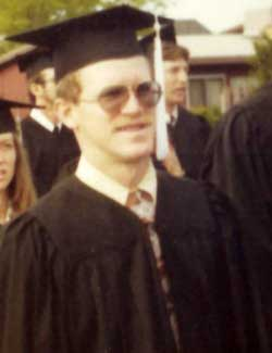 Carl Johnson graduates from Utah State University in 1977.