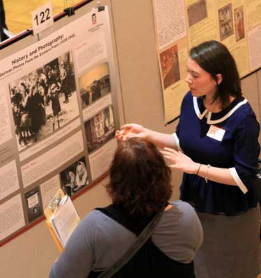 Research Rookie Natalie Cincottapresents at URAD 2013.