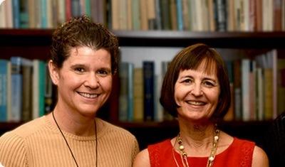 NIU professors Jennifer Schmidt (left) and Lee Shumow