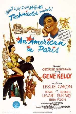 "Movie poster for ""An American in Paris"""