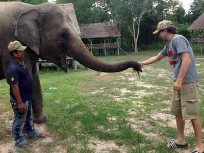 History major Ron Leonhardt used a USOAR grant to conduct research in Kandal Province, Cambodia.