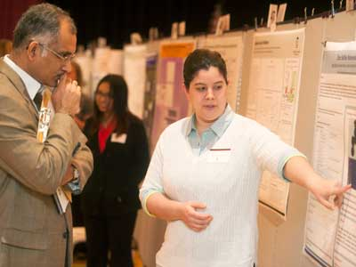 NIU students presentt their research at URAD.