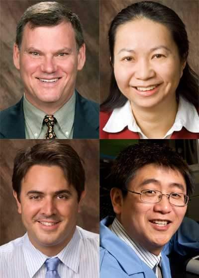 Top: Timothy Hagen and Lichuan Liu. Bottom: Federico Sciammarella and Tao Xu