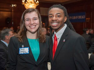 NIU students Sarah Stuebing and Randiss Hopkins