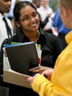 NIU College of Engineering and Engineering Technology job fair (October 2012)