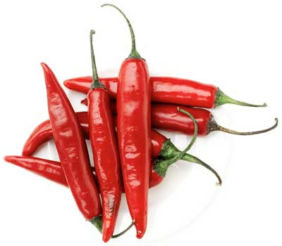 Photo of red chilies