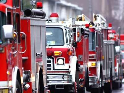 A photo of firetrucks