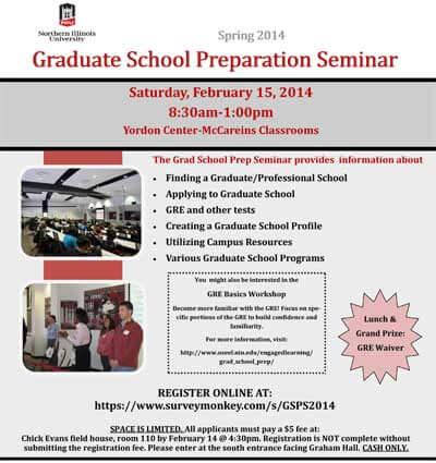 Graduate School Preparation Seminar poster