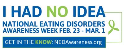 I HAD NO IDEA (National Eating Disorders Awareness Week logo)