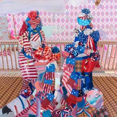 """Celeste Rapone's """"Pie Contest,"""" oil on canvas, 2012"""