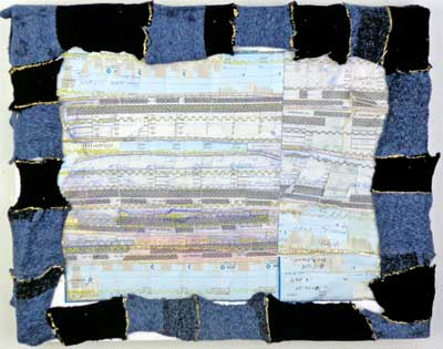 """Jaclyn Mednicov's """"Current Map,"""" mixed media, 2013"""