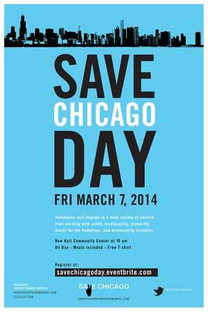 Save Chicago Day poster