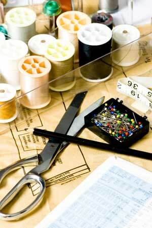 A photo of sewing supplies