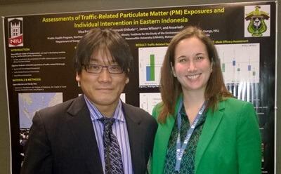 Disa Patel with her adviser, profesor Tomoyuki Shibata