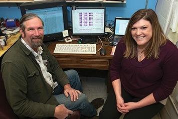Professor Mitrick Johns and doctoral student Jennifer Hintzsche