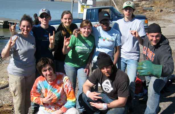 Top row, from left: Lisa Paulsen, Nathan Tripp, Allison Dunnington, Kathryn Olson, Kourtney Madison, Cassie Heredia Bottom row, from left: Kurbrat Vrachanski, Mike Coyne-Logan, Dustin Harter
