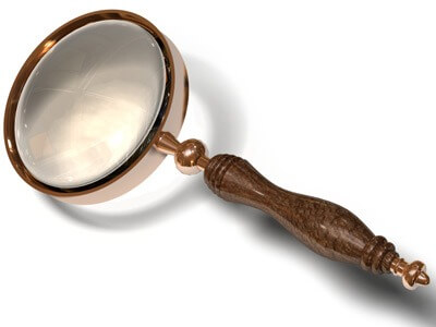 Photo of an antique magnifying glass