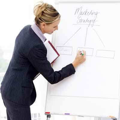Photo of a woman making a business presentation