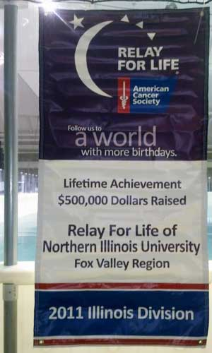 A Relay for Life banner from 2011