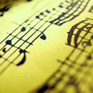 Close-up photo of sheet music