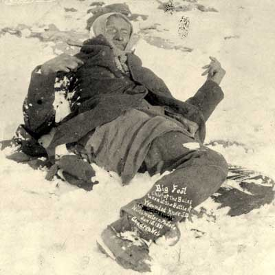 """Death of Big Foot at Wounded Knee,"" Jan. 1, 1891. Photo Source: Library of Congress"