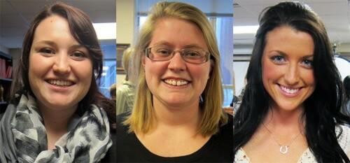 Kaitlin Brown, Heather Grobe and Amanda Ionta